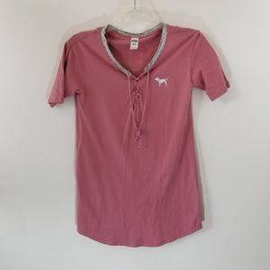 Victoria's Secret Pink Like You a Latte Nightshirt